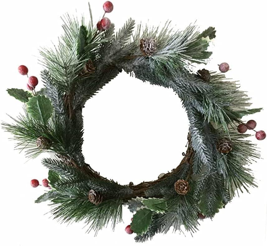 Jgrace Artificial Round Pine famous Needles Simulation 35% OFF Fl Wreath Rattan
