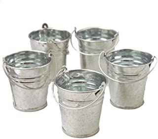 Mini Metal Buckets, 24 Count, 2 Packs of 12