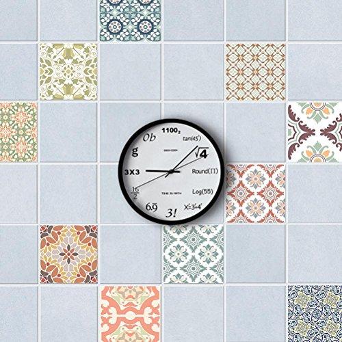 MINRAN DECOR J Art de tuiles Mural - Adhésif carrelage   Sticker Autocollant Carrelage - Mosaïque carrelage Mural Salle de Bain et Cuisine   - 20x20 cm - 10 pièces TS002