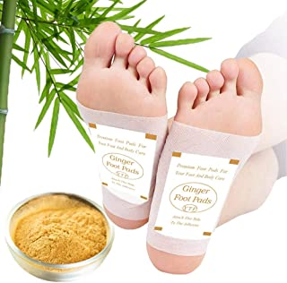 Foot Pads - (60Pads) Ginger Foot Pads for Better Sleep and Anti-Stress Relief, Pure Natural Bamboo Vinegar and Ginger Powd...