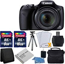 Canon PowerShot SX530HS 16.0MP CMOS cámara digital con zoom óptico de la imagen Estabilizado 50x con 3pulgadas LCD HD 1080P Video (Negro) + Batería Extra + 24GB tarjeta de clase 10Complete DeLuxe Accessory Bundle y mucho más