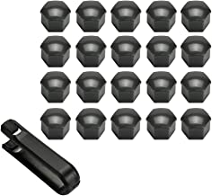 ATVATP 17MM 20pcs Wheel Lug Nut Center Cover Bolt Caps with Removal Tool for VW Audi Skoda Golf Jetta Passat 321601173A (Grey)