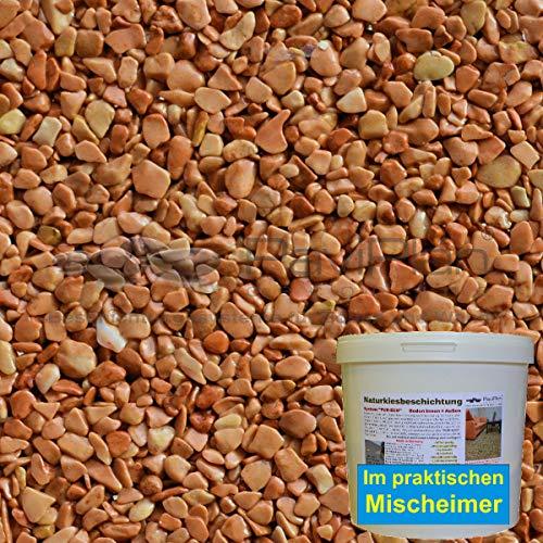 Steinteppich BEKATEQ BK-590 Marmorkiesel Dunkelgrau 2-4mm Zierkies 2qm 20kg abgerundet