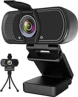 Hrayzan Webcam 1080P,HD Webcam with Microphone, PC Laptop Desktop USB Webcams with 110 Degree Wide Angle, Computer Web Cam...
