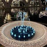 Bomba de Agua eléctrica Solar, Mejorada con Patas de Bomba Solar Fuente con Luces de LED Blanco 9V 3.5W para el baño del pájaro, pequeño Estanque, Tanque de Peces, Patio, Jardín Decoración