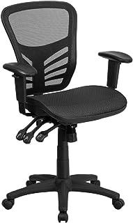 Flash Furniture Mid-Back Transparent Black Mesh...