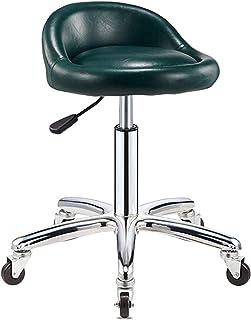 chair Bar Stool Adjustable Rolling Cushion Tattoo Massage Hydraulic Salon Stool