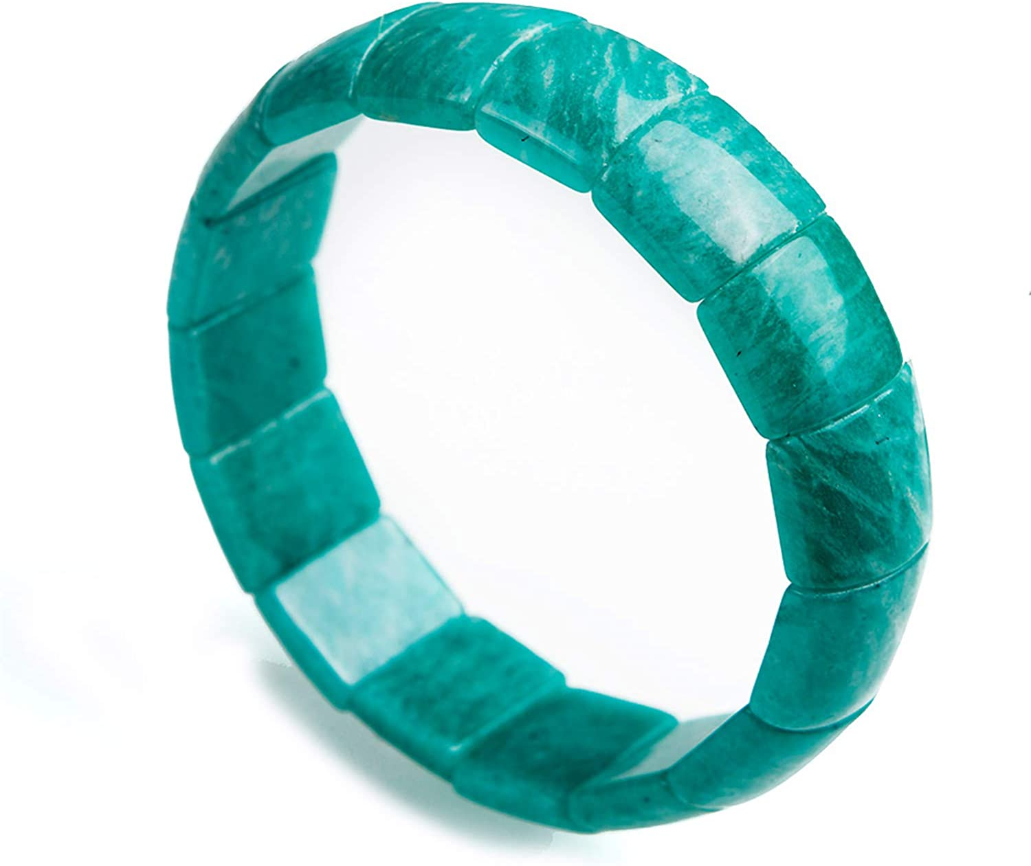 Muko Excellence Gemstone Genuine Natural Beauty products Mozambique Green Rectang Amazonite