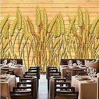 写真の壁紙3D立体空間カスタム大規模な壁紙の壁紙 黄金の小麦の耳の壁の装飾リビングルームの寝室の壁紙の壁の壁画の壁紙テレビのソファの背景家の装飾壁画-200X140cm