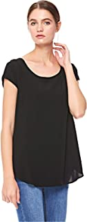 ONLY asymmetrical top for women in Black, 38 EU (Manufacturer Size:Medium)