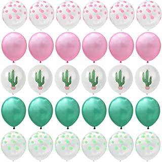 30PCS Cactus Party Balloons for Hawaiian Luau Tropical Party Balloons Birthday Decorations