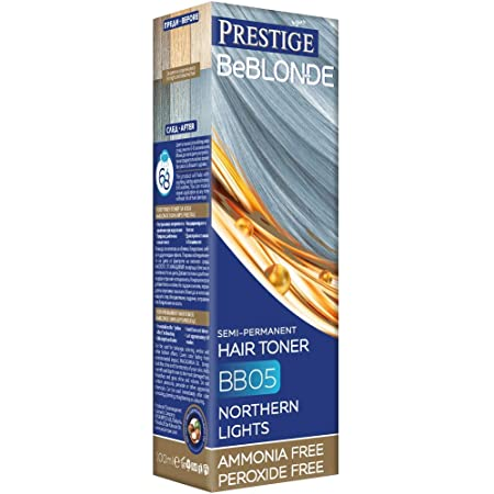 Vips Prestige - BeBlonde Tinte Semi Permanente Color Resplandor Plateado BB05, Sin Amoniaco Sin Peroxide
