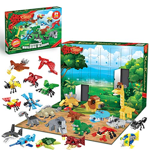 JOYIN 2020 Advent Calendar Kids Christmas 24 Days Countdown Calendar Toys for Kids with Animal Building Blocks