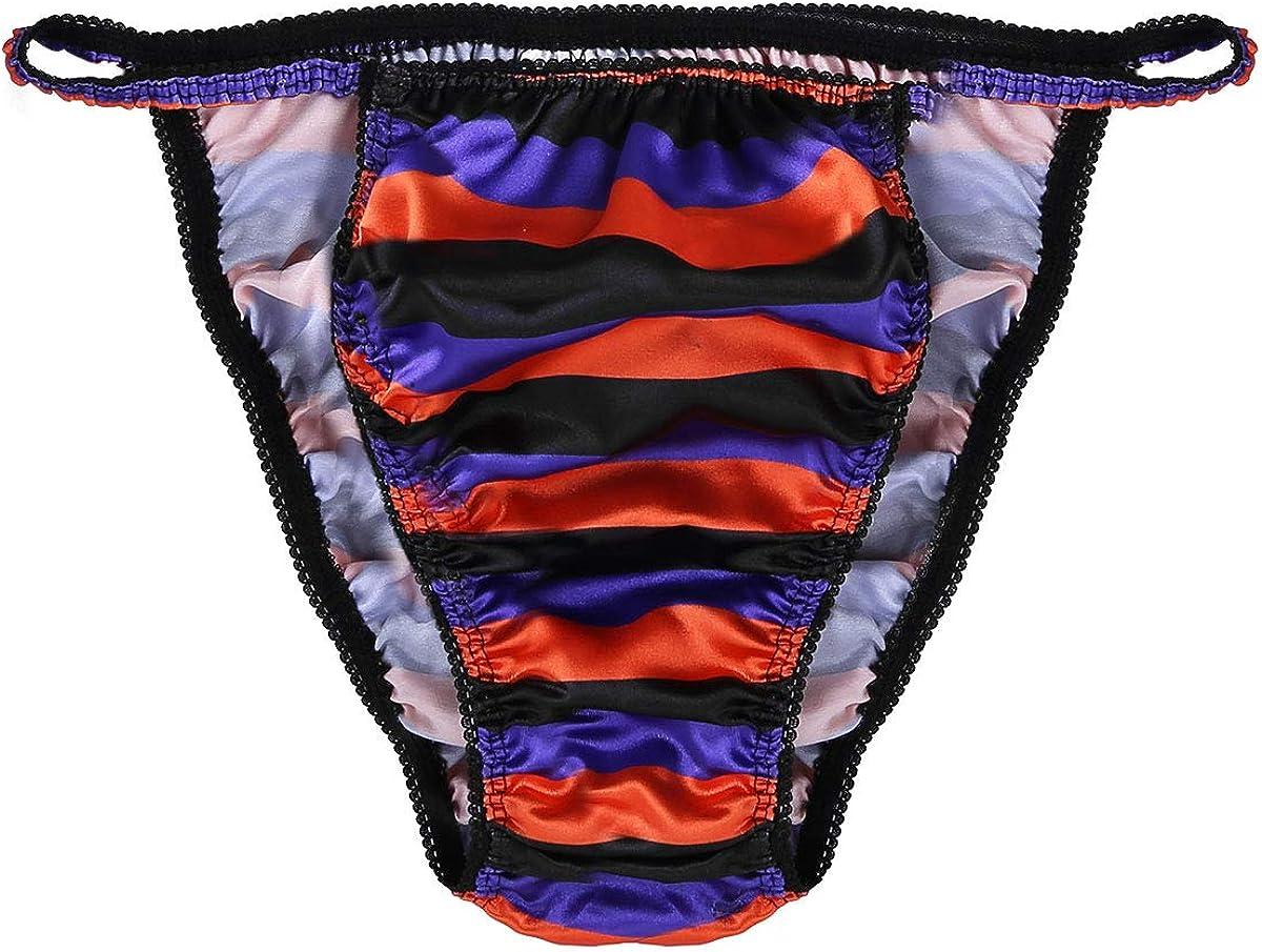 Men Underpants Floral Print Underwear Bulge Pouch Sissy Trunks Elastic Briefs