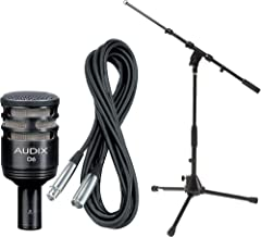 Audix D6 Dynamic Kick Drum Microphone w/ Microphone Stand and Audio Cable