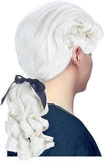Angelaicos Unisex Colonial Wig Long Layered Judge Cosplay Halloween Costume Wigs