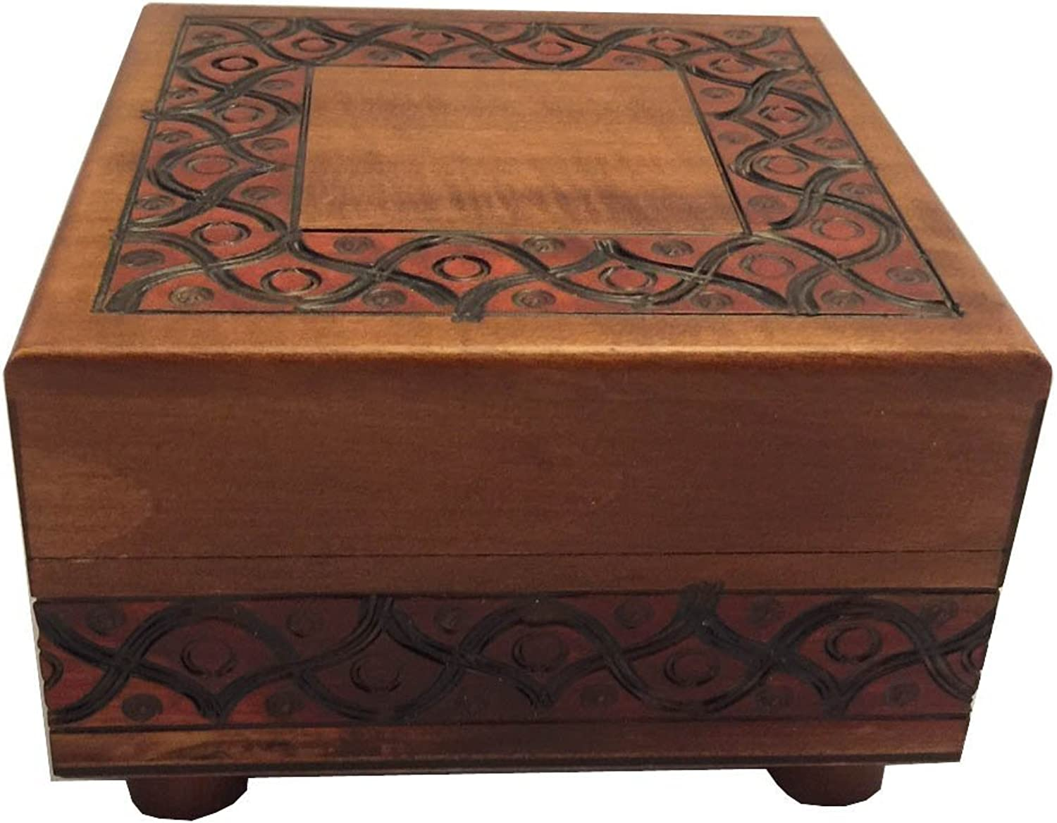 Enchanted World of Boxes Platz Traditioneller Entwurf Natural Finish Geheimnis Legs Puzzle Box