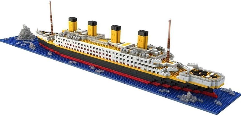 Brigamo Titanic Bausteine Schiff 50 cm lang Konstruktionsspielzeug 1860 Teile