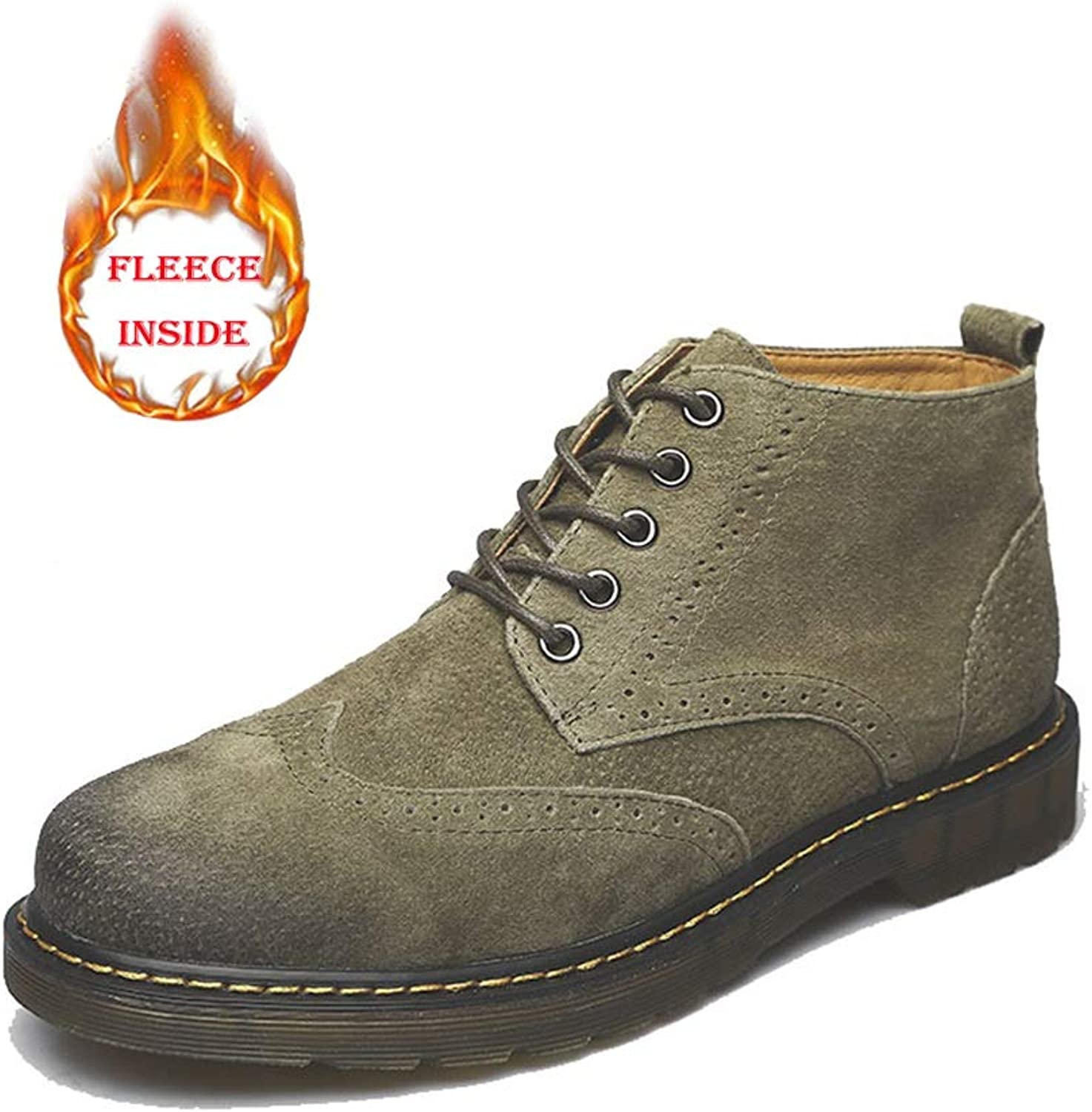 HYF Men's Fashion Ankle Boots Casual Retro Comfortable And Wearable Boots Winter