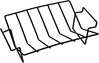 Dracarys Rib Rack For Smoking and grilling,Big Green Egg Accessories Roasting Rack,Porcelain Coated Steel smoker accessories Dual-Purpose Fits for Large Big Green Egg,Weber,Kamado Joe,Primo,VisionEtc.