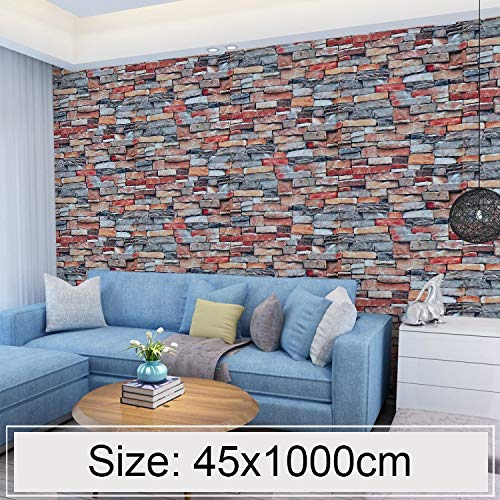 Tuzi QiuGe Elegant creative 3D gold brick stone tile decorative wallpaper stickers bedroom living room wall waterproof wallpaper
