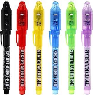 Bolígrafo de tinta invisible lápiz espía MALEDEN con rotulador mágico de luz UV para mensajes secretos y fiestas