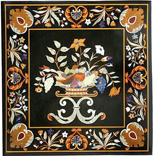 Gifts And Artefacts Table de cuisine en marbre, marbre, marque, art de terrasse, salle à manger, peut être utilisée dans votre bureau.
