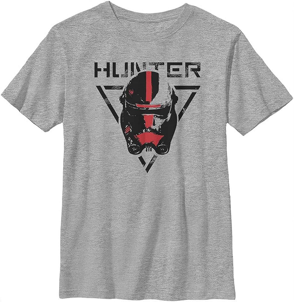 Star Wars Bad Batch Hunter Boy's Crew Tee, Athletic Heather, X-Small