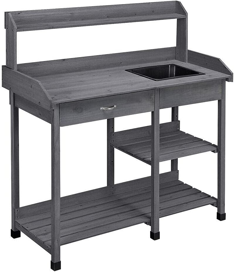 MRCH Garden Potting Bench Table Max 42% OFF Workstation Outdoor Work P Excellent