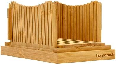 Flurff Bamboo Bread Slicers for Homemade Bread, Compact Foldable Bread Slicer Guide, Bagel Slicer
