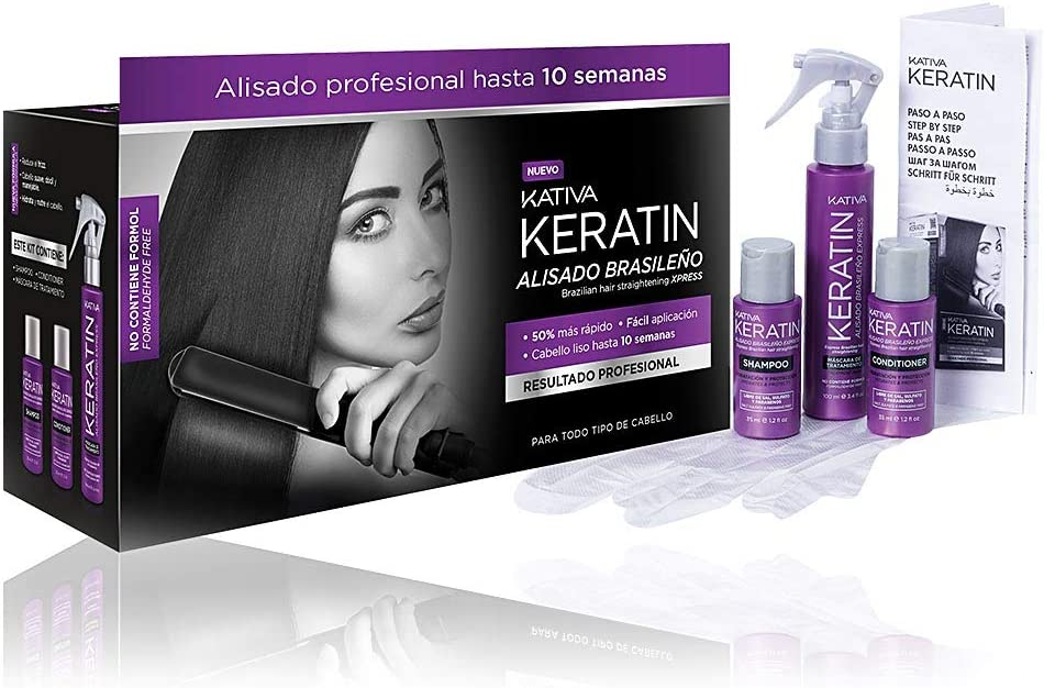 Kativa Keratin - Kit de planchado brasileño Express