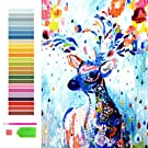AidaBeauty Deer 5D DIY Diamond Painting Kits for Adults, Diamond Art Painting by Numbers Deer, Diamond Embroidery Full Drill Cross Stitch for Home Wall Décor & Gift