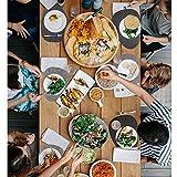 Nesirooh Platzset Filz 9er Set, rutschfest Hitzebeständig Waschbar Tischsets und Untersetzer für Dinnerpartys zu Hause - 3