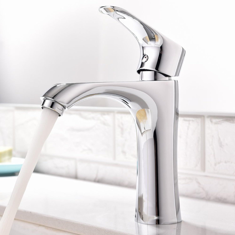 Witsinhome Fantastic Value Washroom Basin Single Lever Single Round Spout Sturdy Chrome Finish Mono Bathroom Sink Taps, Monobloc Bathroom Sink Faucet