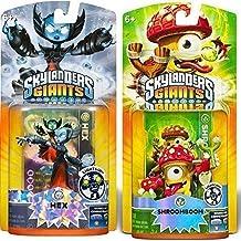 Activision Skylanders Giants Shroomboom and Hex Lightcore Character Figure   Bundle Bonus Pack (Renewed)