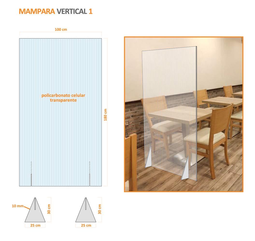 Mampara divisora semi-transparente anti contagio y protección de 100 x 180 cm: Amazon.es: Oficina y papelería