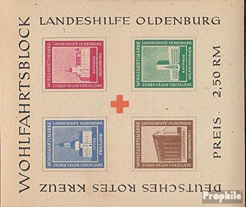 Prophila Collection Oldenburg (Lokalausgaben) Block II B 1948 Landeshilfe Oldenburg (Briefmarken für Sammler) Rotes Kreuz