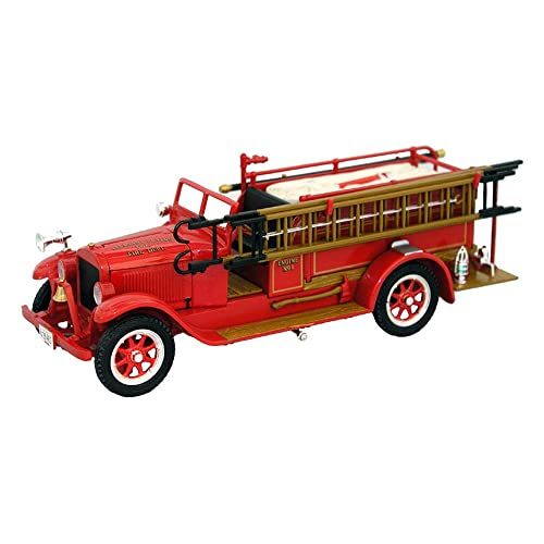 Shaking, vintage toy fire trucks could