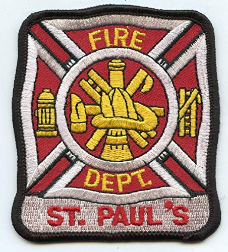 Embroidered Patch - Patches for Women Man - ST Saint Pauls North Carolina NC FIRE