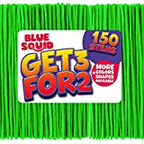 Pipe Cleaners Craft Chenille Stems - 150 Pcs Green Chenille Cleaners, Green Pipe Cleaners, DIY Art & Craft Projects, Kids Fuzzy Sticks Crafts, Extra Long Pieces, Sparkle Crafting Colors