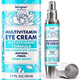 Eye Cream for Dark Circles and Puffiness - Natural Anti-Aging Support - Helps Moisturize and Reduce Wrinkles, Fine Lines, Eye Bags, Dryness - Firming Under Eye Cream for Women and Men, All Skin Types