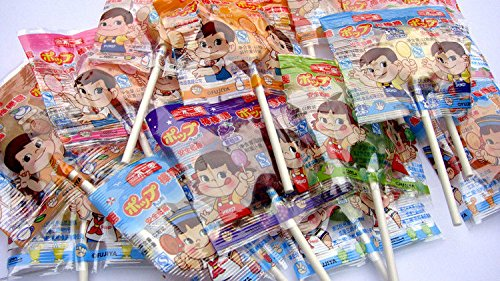 China food co. LTD. 20X7g Chinese delicious several favour lollipop candy free shipping不二家棒棒糖