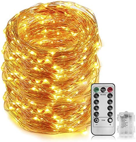 66 Ft 200 LED Fairy Light Cooper Wire String Light Battery Powered With 8 Modes Remote Control product image