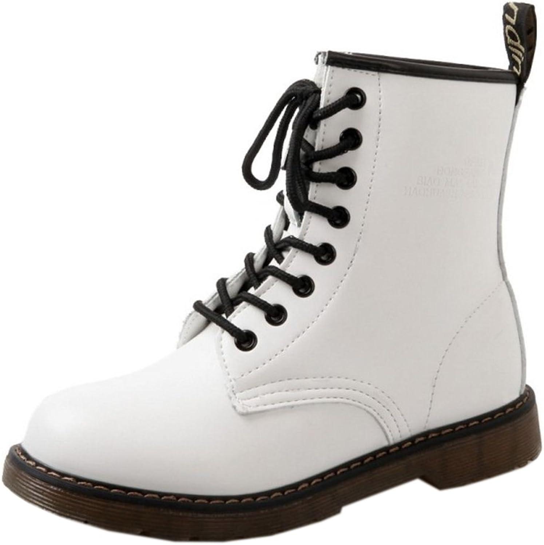 TAOFFEN Women Boots Lace Up