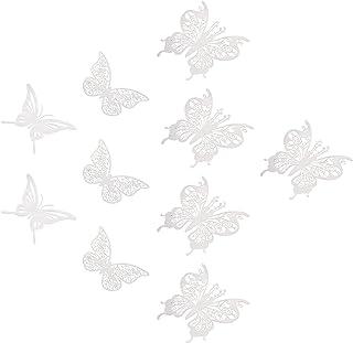 VOSAREA 1Set Metal 3D Butterfly Wall Decals Hollow Metallic Butterfly Decor Paper Butterflies Decor Mural Decal DIY Butter...