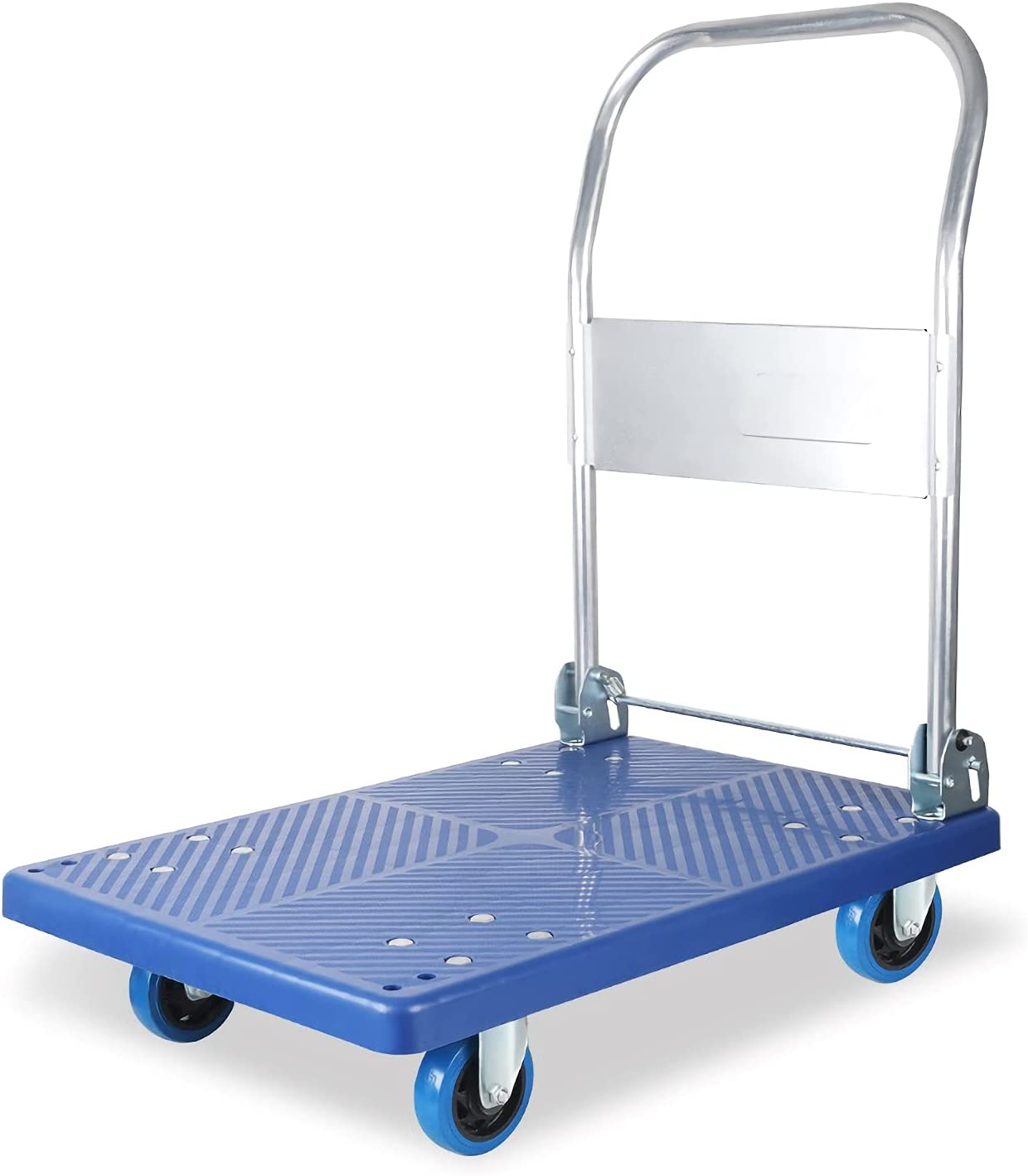 DALIZHAI777 Very popular Platform Cart Push Over item handling Trolley Pane Plastic Durable