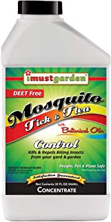 I Must Garden Mosquito Tick and Flea Concentrate: Kills and Repels Biting Insects from Yard – Natural and Pet Safe – Covers 4,000 Sq. Ft - 32oz