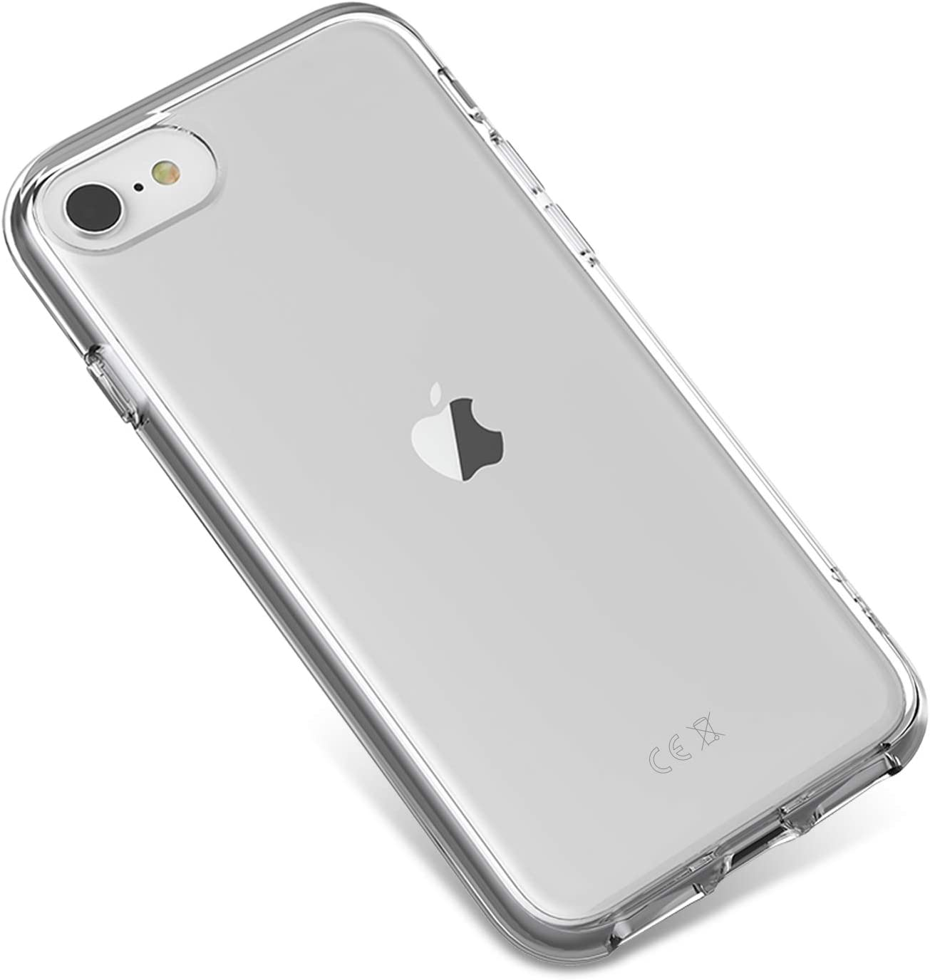 Mous - Transparent Clear Protective Case for iPhone SE/8/7/6/6S - Clarity Lite - No Screen Protector