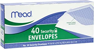 Mead 10 Security Envelopes, 40 Count (75214) , White