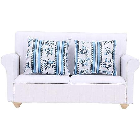 1//6 miniatur lange sofa couch puppen haus wohnzimmer möbel kinder pretend